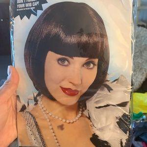 Black Short Hair Flapper Wig